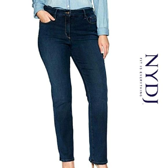NYDJ Denim - PLUS NYDJ Marilyn Straight Leg High Waist Jeans 16